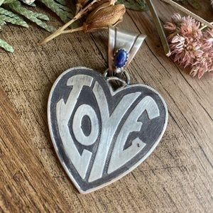 All you need is LOVE 💙 sterling silver pendant